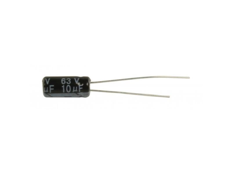 Ra.electr. Capac. 10uf 63 v 105°