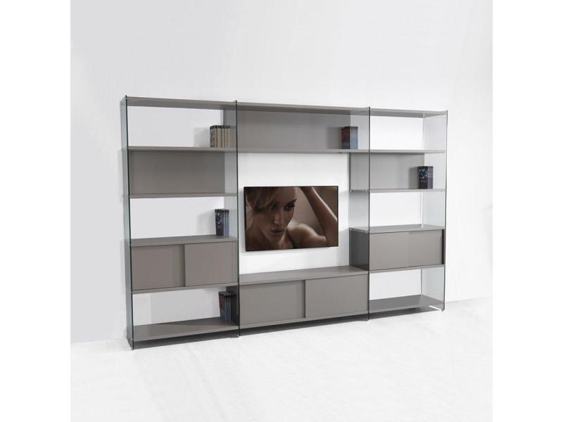 composition murale tv babylone taupe 20100853670 vente de meuble tv conforama. Black Bedroom Furniture Sets. Home Design Ideas