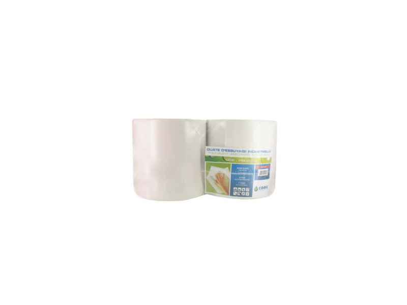 Bobine blanche pure ouate cobic t1000 pack 2 rouleaux OPE450
