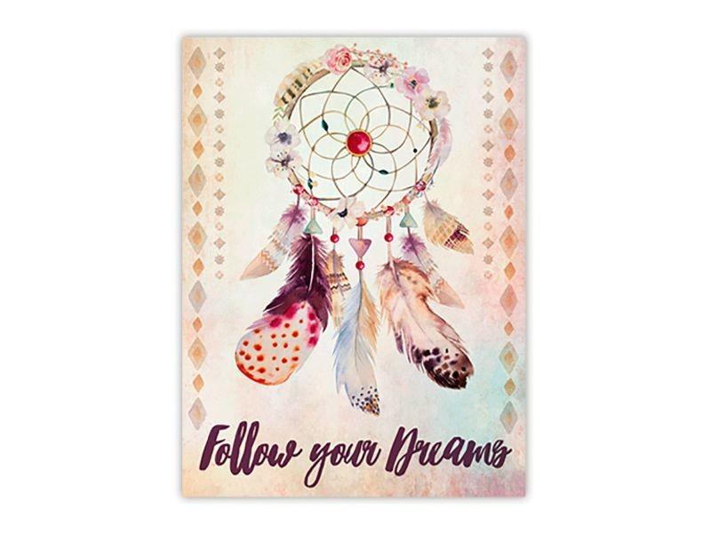 toile attrape r ves boho 30 x 40 cm follow your dreams conforama. Black Bedroom Furniture Sets. Home Design Ideas