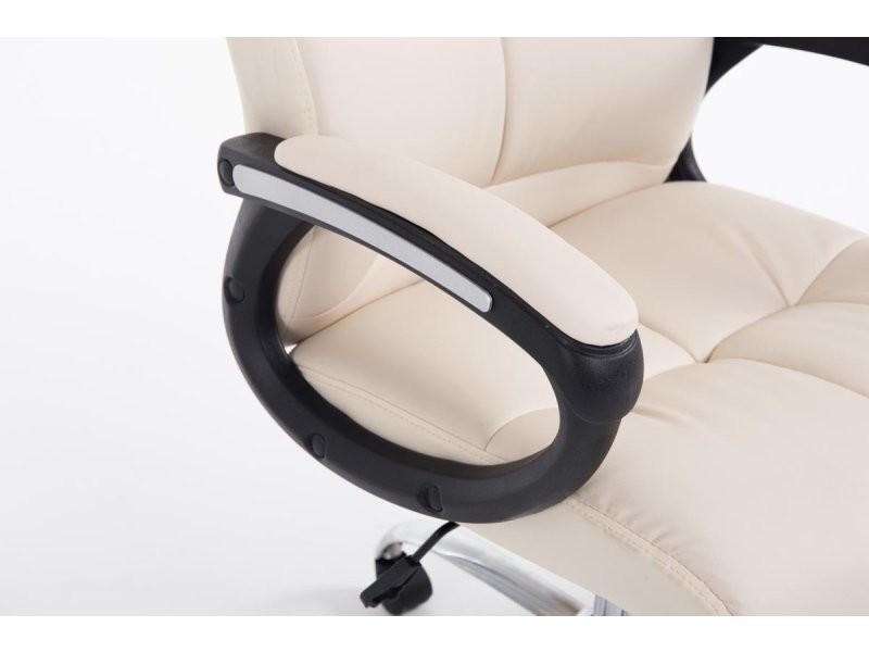 fauteuil chaise de bureau ergonomique hauteur r glable cr me bur10052 vente de fauteuil de. Black Bedroom Furniture Sets. Home Design Ideas
