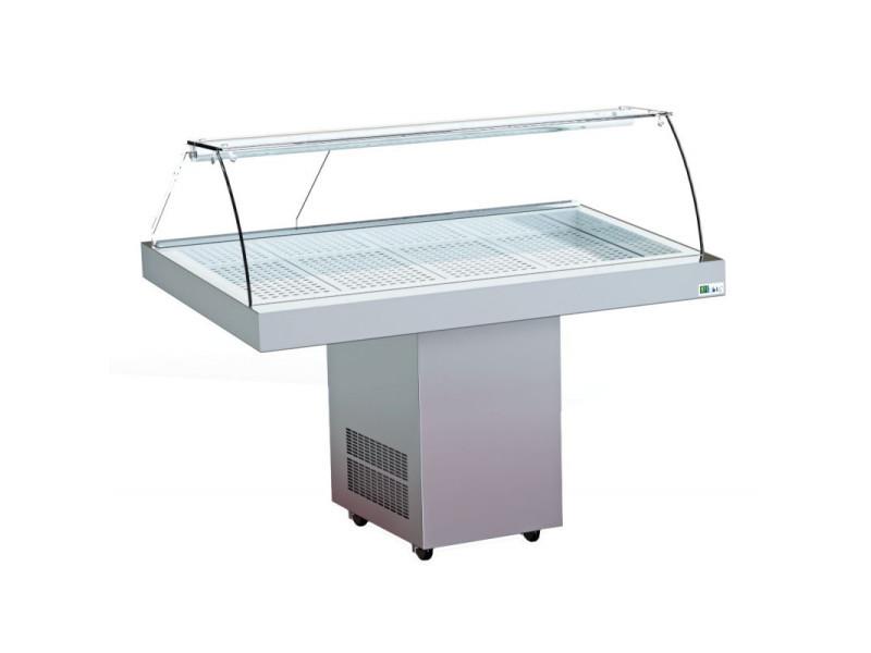 Vitrine réfrigérée à poissons inox - l 940 à 1410 mm - afi collin lucy - 940 mm
