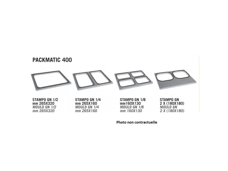 Moule gn 1/4 packmatic - 265 x 160 mm - lavezzini -