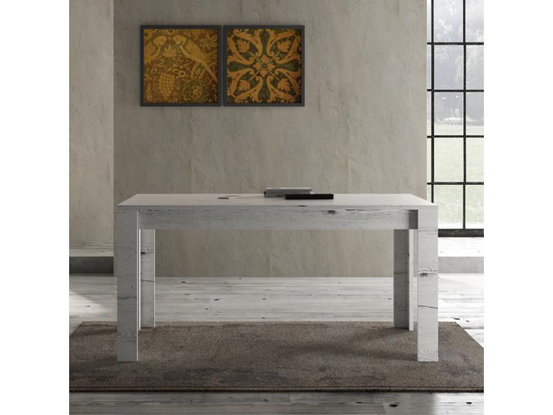 Table de repas 160 cm chêne blanchi - verone - l 160 x l 90 x h 79 - neuf