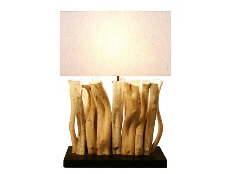 Lampe Bois Flotte Silia Vente De Lampe De Bureau Conforama