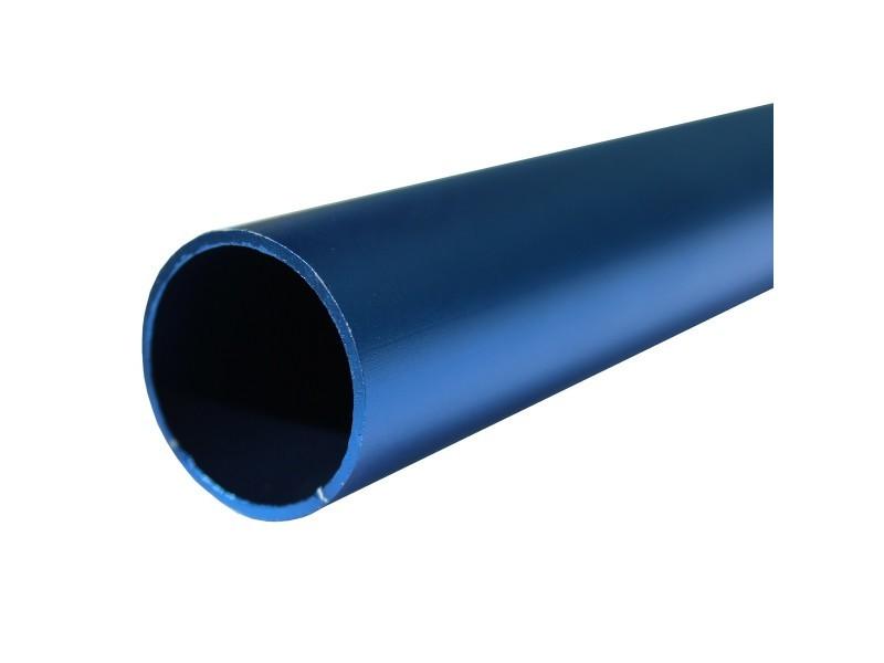 Lot de 1_tube aluminium anodisé longueur 200 cm ø 30 mm bleu