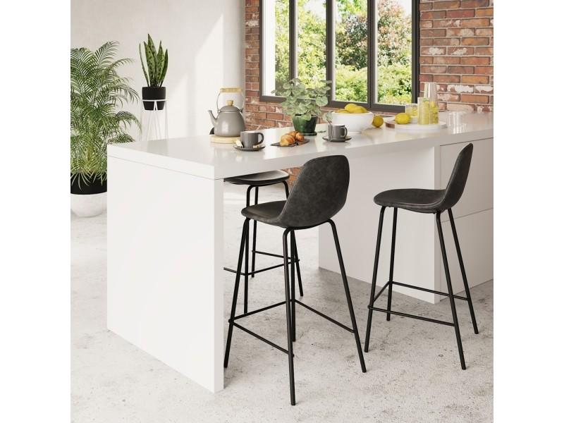chaise de bar henrik noire 65 cm lot de 2 vente de bar. Black Bedroom Furniture Sets. Home Design Ideas