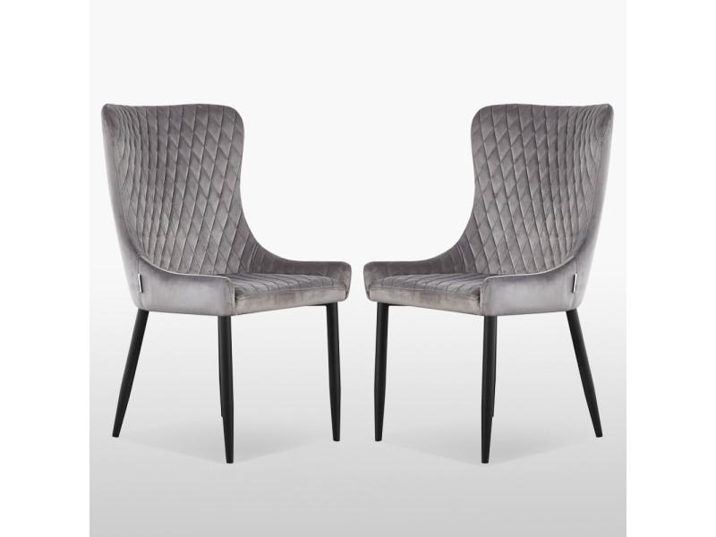 2 Lot velours en grisesbarclay de vintage chaises pour MpVGSUzq