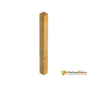 Poteau En Bois Pour Balustre Vente De Brise Vue Panneau Cloture