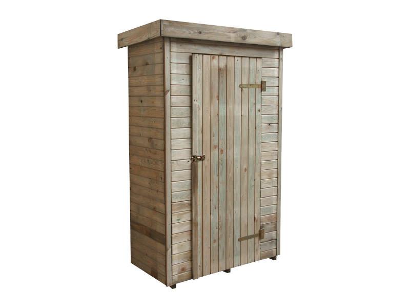 Armoire de rangement de jardin en bois traité 198x130x69cm, santiago ...