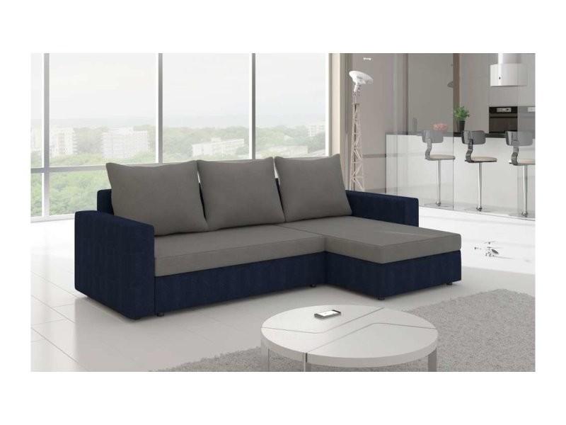 Justyou livio ii canapé d\'angle 150x237x85 bleu gris - Vente de ...