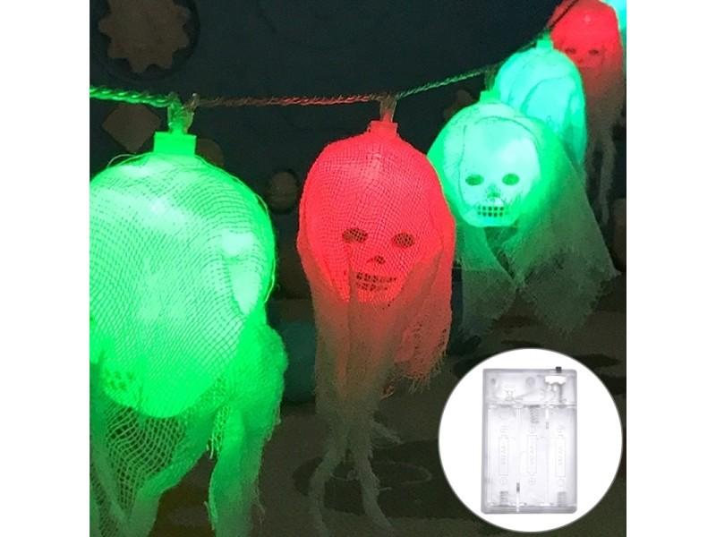 2 5m Colorée Halloween Tête Lumière Fantôme Conception Série Gaze fyvbY6g7