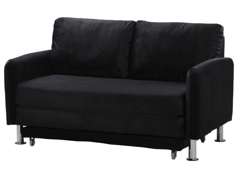 canap convertible rio 1 5 places noir vente de habitat et jardin conforama. Black Bedroom Furniture Sets. Home Design Ideas