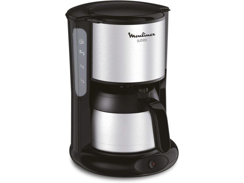 Cafetière électrique de 0,9l pour 8 a 10 tasses gris noir