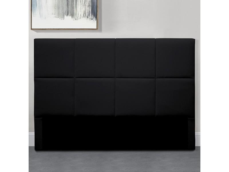Tête de lit design alexi - noir - 140 cm