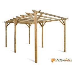 Carport en bois maranello