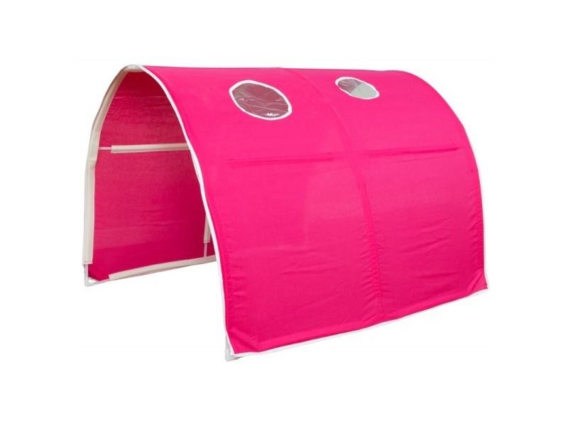 Tunnel Pour Lit Enfant Superpos Tente Accessoires Rouge XXCm