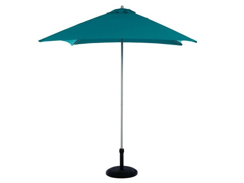 Parasol carré anzio bleu canard hespéride - bleu canard