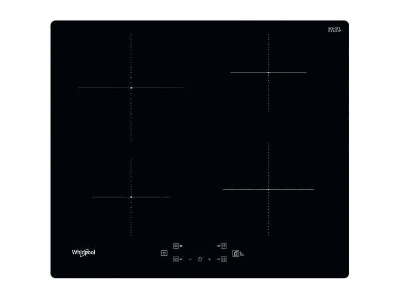 Whirlpool ws q2160 ne noir intégré (placement) 59 cm plaque avec zone à induction 4 zone(s)