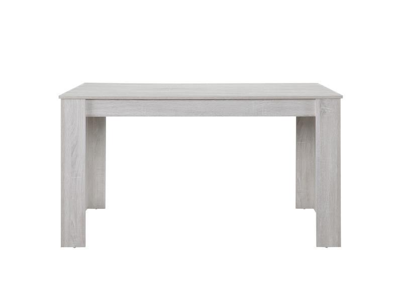 Table de salle à manger robuste nora, chêne blanc, 140 x 90cm