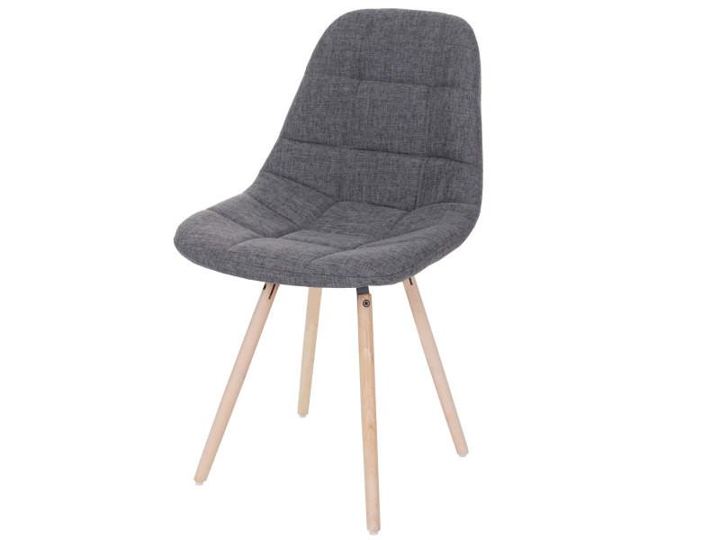 Chaise de salle à manger hwc-a60 ii, chaise de cuisine, design rétro des années 50 ~ tissu/textile gris