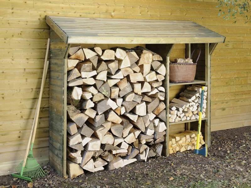Abri en bois pour bûches 1,6 stères B_445