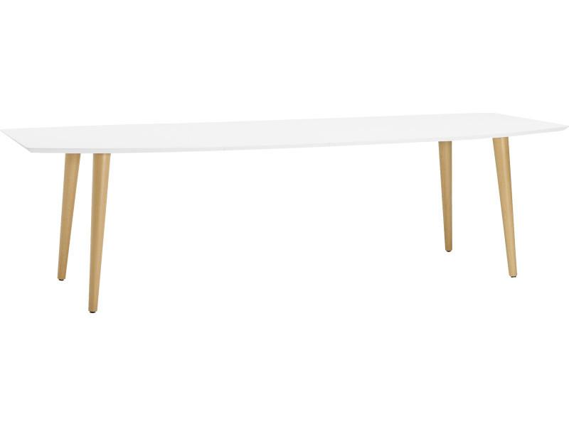 Table à manger extensible coloris blanc - 100 x 75 x 170/270 cm -pegane-