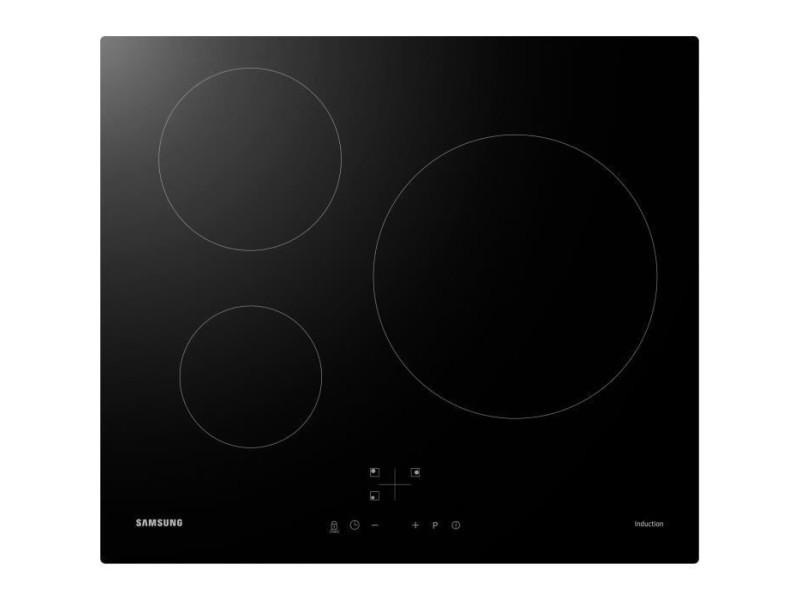 Samsung nz63m3nm1bb/ur - table de cuisson induction - 3 zones - 7200 w - l59 x p57 cm - revetement verre - noir