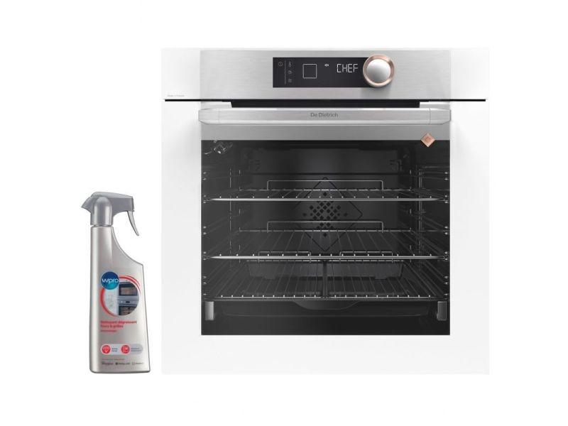 Four pyrolyse encastrable blanc 73l multifonction porte froide 9 modes de cuisson