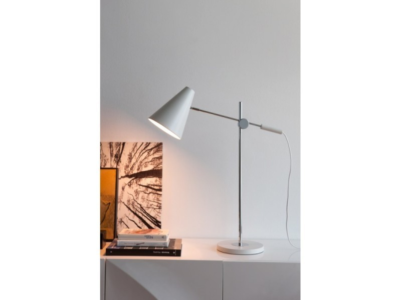 lampe de bureau articul e blanche adria l 22 x l 60 x h. Black Bedroom Furniture Sets. Home Design Ideas