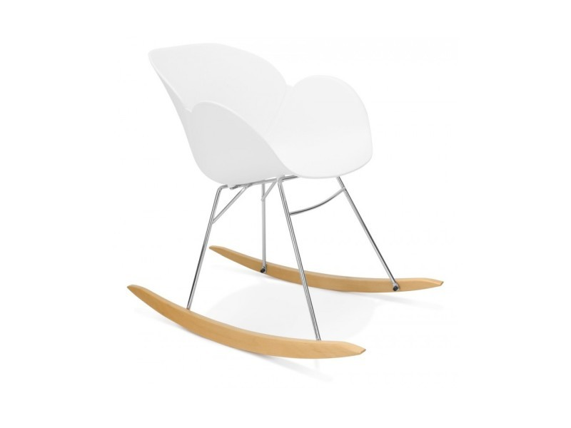 Fauteuil design knebel white 59x99x79 cm