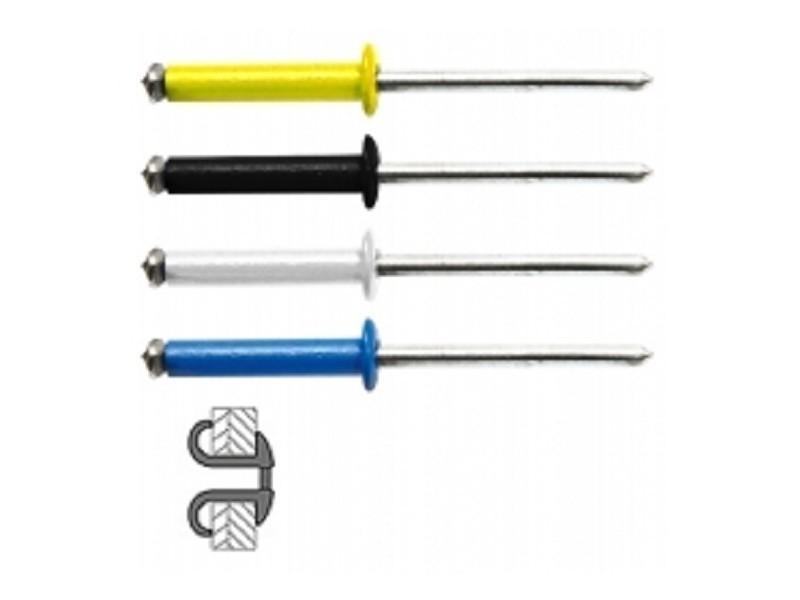 Techman - 48 rivets éclatés alu/acier à tête plate couleur ø 4 x 16 mm 7631844