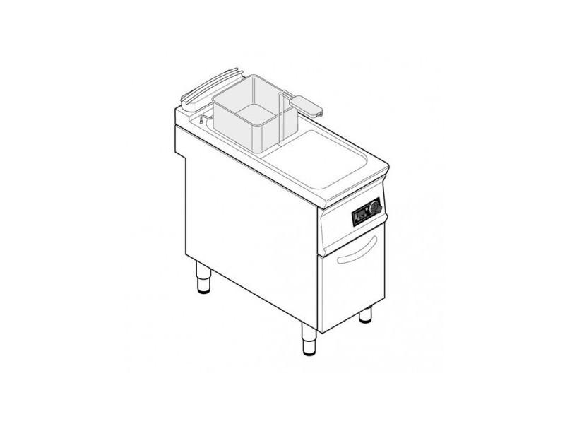 Friteuse sur coffre électrique - 21 litres - commandes électroniques - tecnoinox -