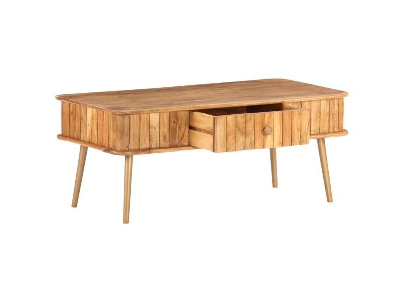 Vidaxl table basse 100x50x40 cm bois d'acacia massif 289650