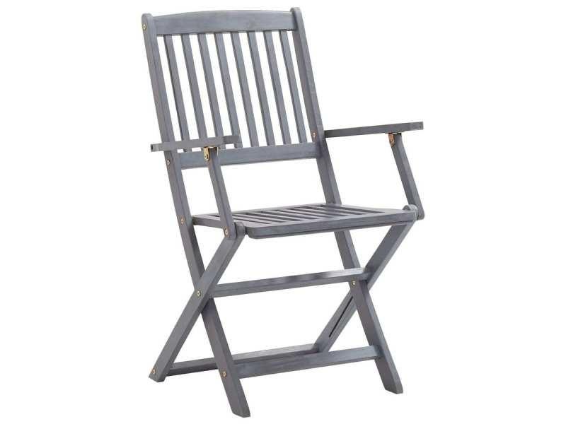 Icaverne - chaises de jardin categorie chaises pliables d'extérieur 4 pcs bois d'acacia solide