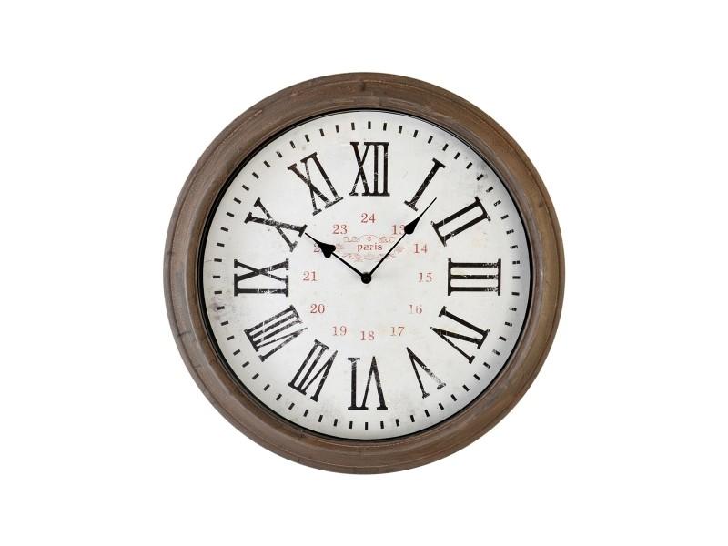 horloge ronde taupe vente de emde premium conforama. Black Bedroom Furniture Sets. Home Design Ideas