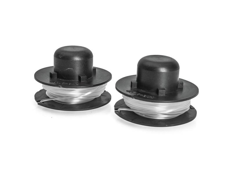 Lot de 2 bobines de fil nylon pour coupe bordure 250w- 5m - diamètre 1.4mm