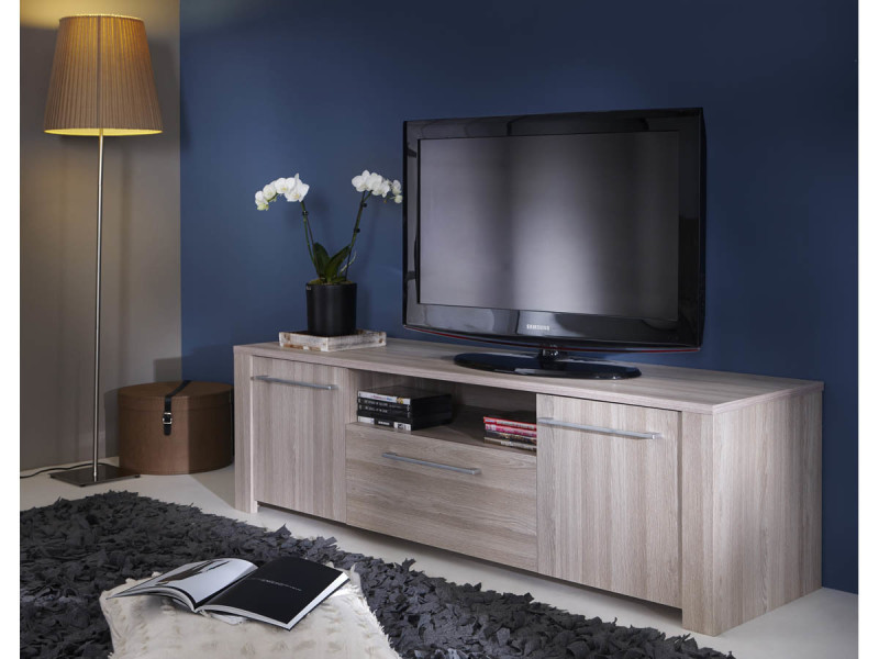 meuble tv duchess 147 7 x 42 3 x 43 4 cm ch ne shannon vente de demeyere conforama. Black Bedroom Furniture Sets. Home Design Ideas