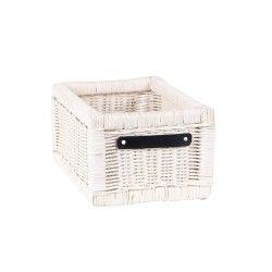 panier linge et corbeille blanc conforama. Black Bedroom Furniture Sets. Home Design Ideas