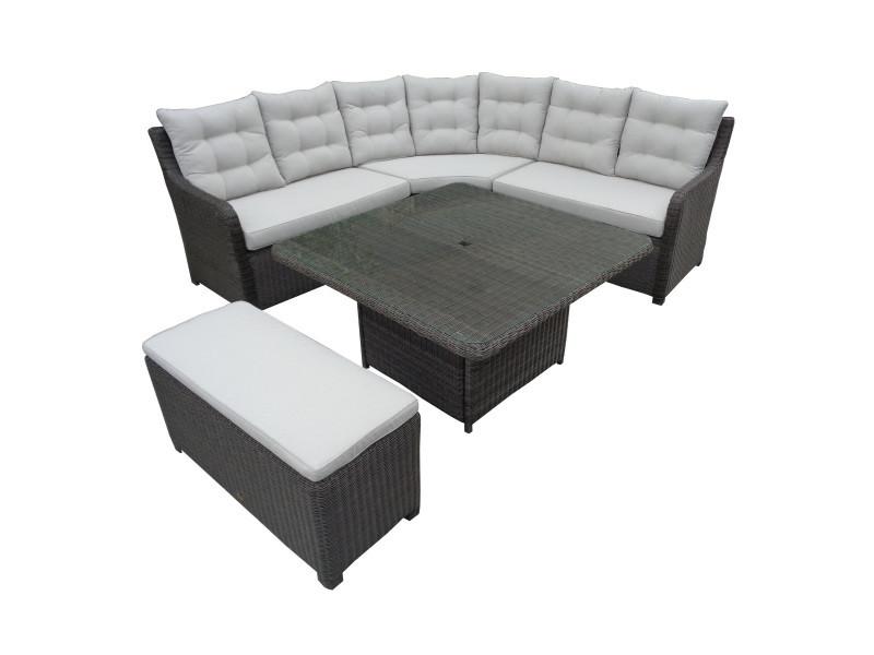 salon de jardin attala en r sine tress e rotin design. Black Bedroom Furniture Sets. Home Design Ideas