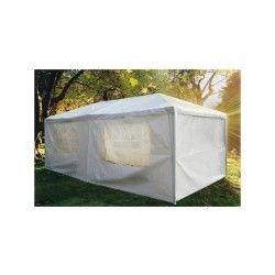 Tente de jardin pergola 3x9m toile blanche barnum tonnelle chapiteau réception