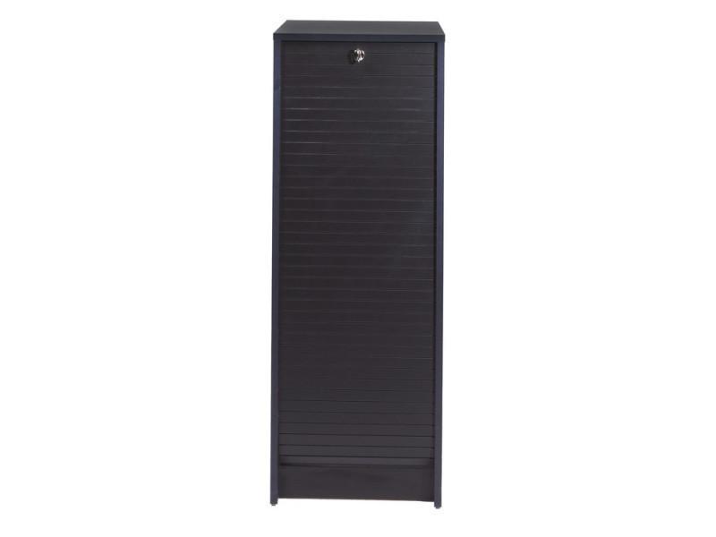armoire de bureau en bois noir à rideau avec serrure boost - vente