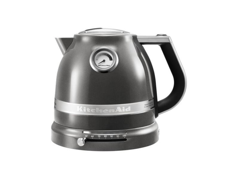 Kitchenaid bouilloire 1.5l 2400w artisan gris etain 5kek1522ems