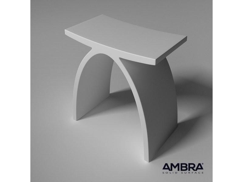 tabouret blanc osaka en solid surface vente de ambra conforama. Black Bedroom Furniture Sets. Home Design Ideas