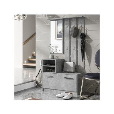 meuble entre vestiaire entre ambre 85 cm bton avec armoire