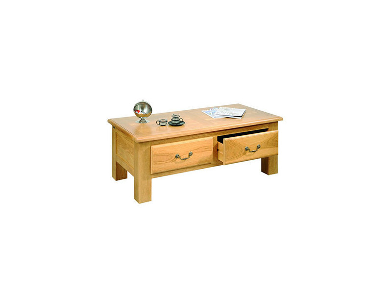 Table basse de salon mansart bois ch ne massif vente for Table de salon chene massif