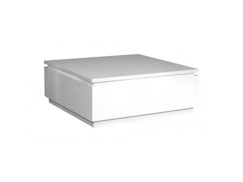 Table basse carrée design blanche amelie