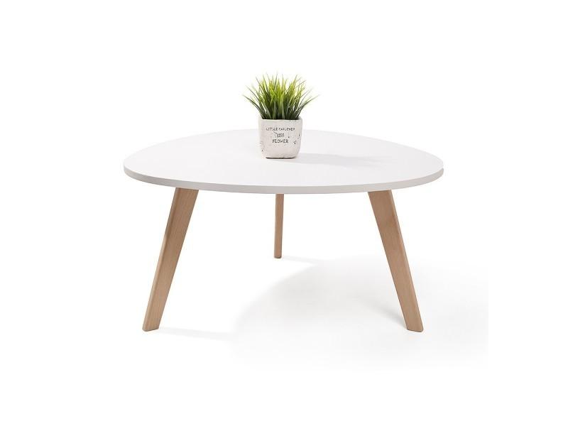 alta table basse scandinave aspect galet pieds en bois blanc vente de homekraft conforama. Black Bedroom Furniture Sets. Home Design Ideas