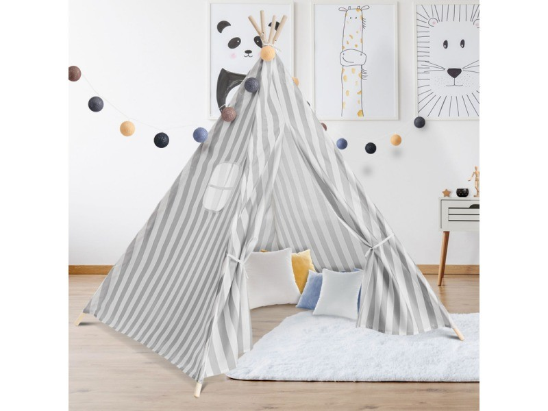 tipi d 39 indien ray gris tente de jeux pour enfant vente de id market conforama. Black Bedroom Furniture Sets. Home Design Ideas