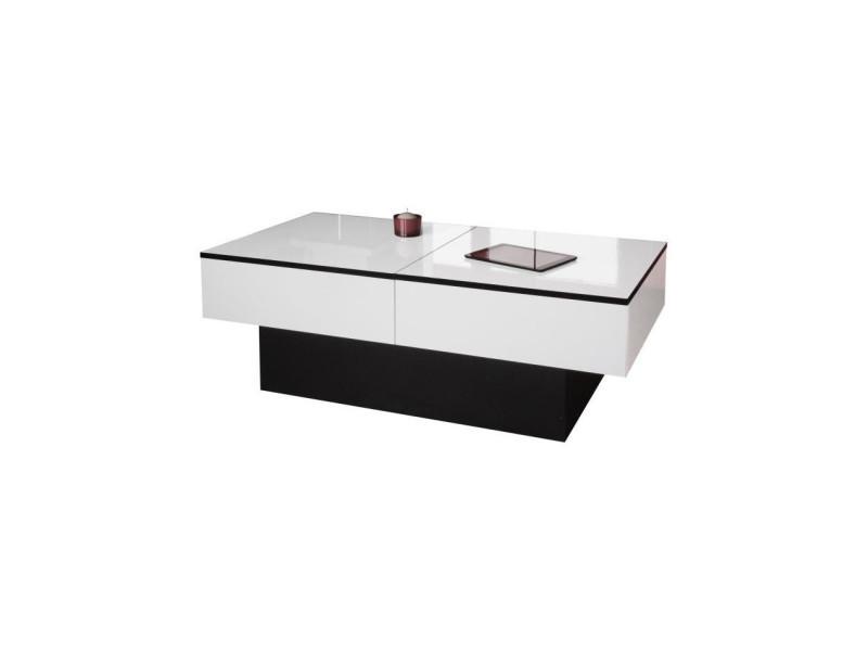 x basse Amelia h cm et 60 table blanc l 113 40 x noir p 34LSAc5Rjq